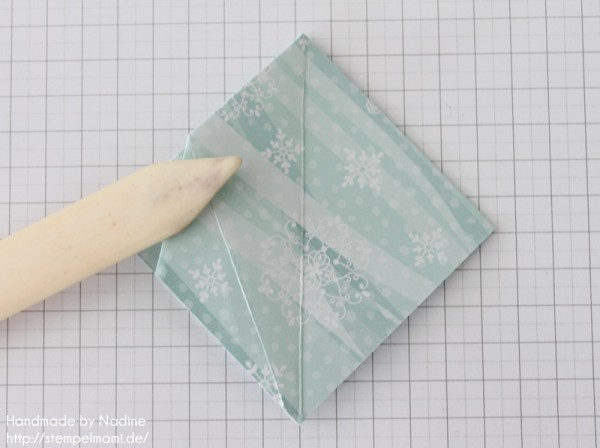 Stampin Up Anleitung Tutorial Origami Box Schachtel Verpackung Star Box 041