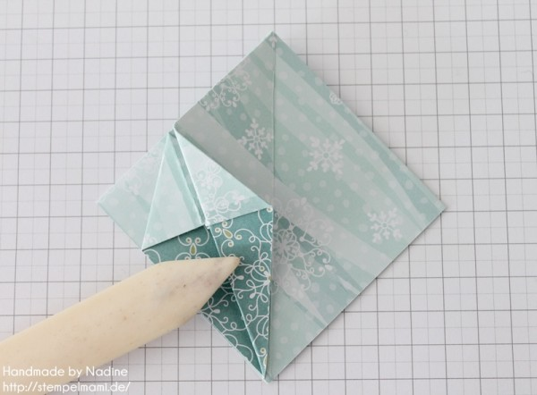 Stampin Up Anleitung Tutorial Origami Box Schachtel Verpackung Star Box 042