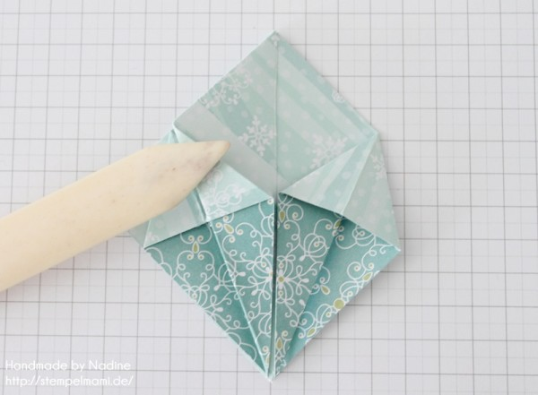 Stampin Up Anleitung Tutorial Origami Box Schachtel Verpackung Star Box 045