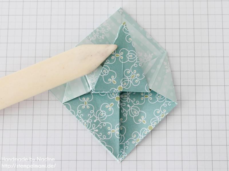 stampin up anleitung tutorial origami box mit deckel basteln mit stampin up. Black Bedroom Furniture Sets. Home Design Ideas