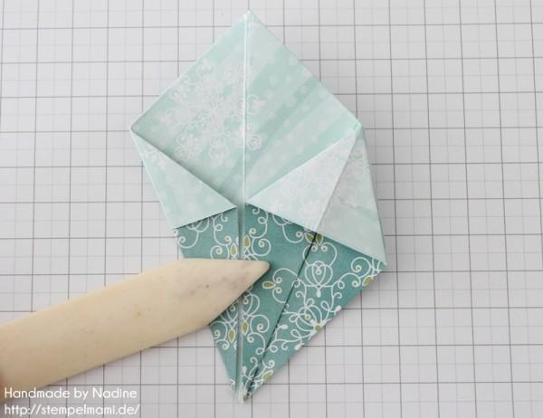 Stampin Up Anleitung Tutorial Origami Box Schachtel Verpackung Star Box 052