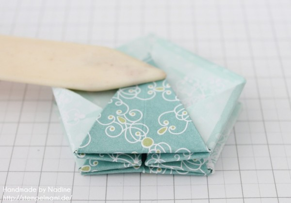 Stampin Up Anleitung Tutorial Origami Box Schachtel Verpackung Star Box 058
