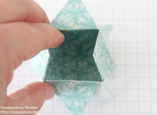 Stampin Up Anleitung Tutorial Origami Box Schachtel Verpackung Star Box 061