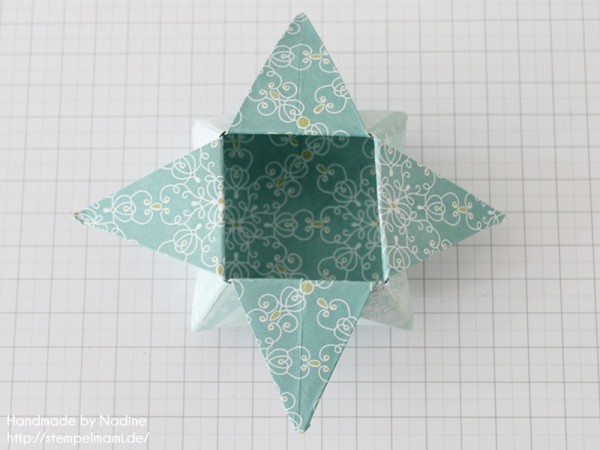 Stampin Up Anleitung Tutorial Origami Box Schachtel Verpackung Star Box 062