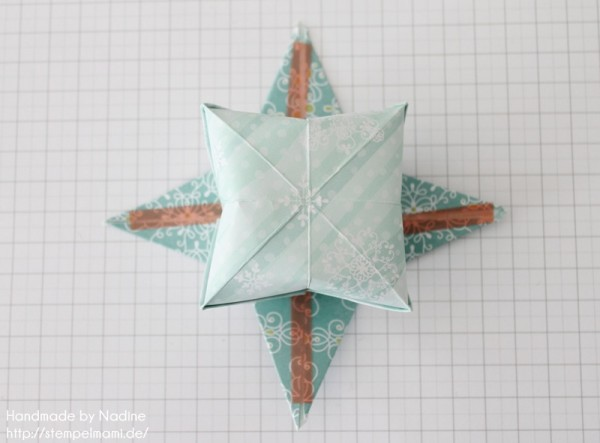Stampin Up Anleitung Tutorial Origami Box Schachtel Verpackung Star Box 064