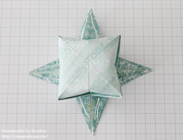 Stampin Up Anleitung Tutorial Origami Box Schachtel Verpackung Star Box 065