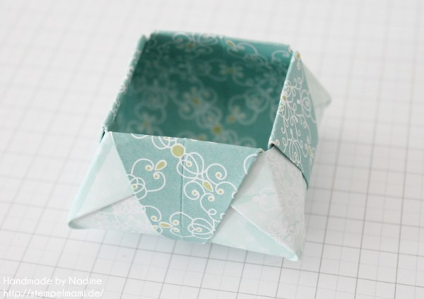 Stampin Up Anleitung Tutorial Origami Box Schachtel Verpackung Star Box 070