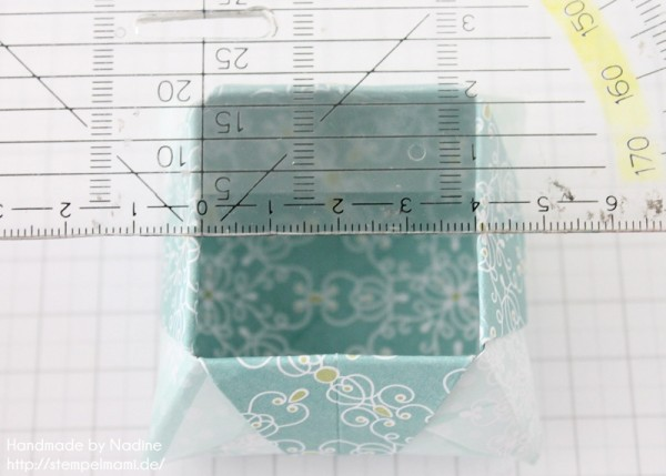 Stampin Up Anleitung Tutorial Origami Box Schachtel Verpackung Star Box 071
