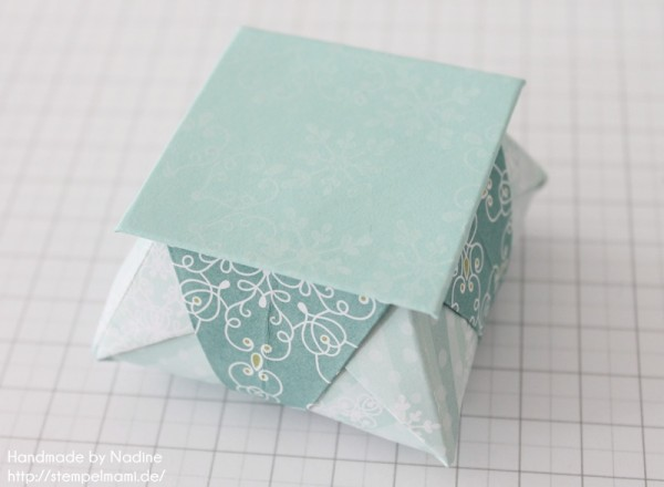 Stampin Up Anleitung Tutorial Origami Box Schachtel Verpackung Star Box 105