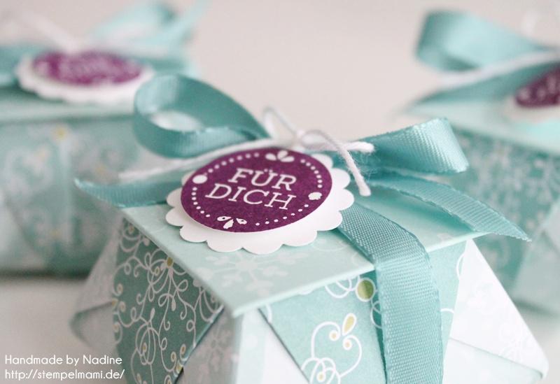 Origami Box mit Deckel als Gastgeschenk