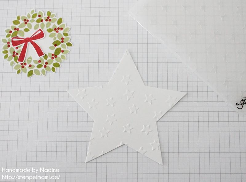 Anleitung Tutorial Stampin Up Sternenbox Star Box Weihnachten 013