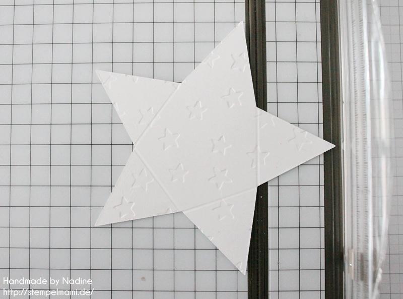 Anleitung Tutorial Stampin Up Sternenbox Star Box Weihnachten 016