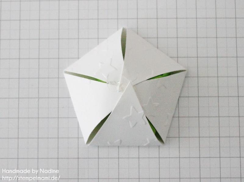 Anleitung Tutorial Stampin Up Sternenbox Star Box Weihnachten 024