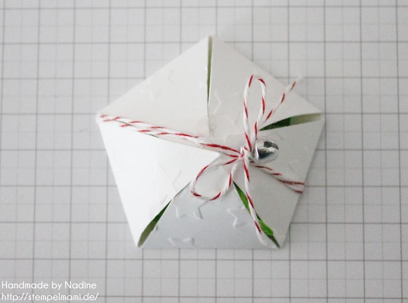Anleitung Tutorial Stampin Up Sternenbox Star Box Weihnachten 038