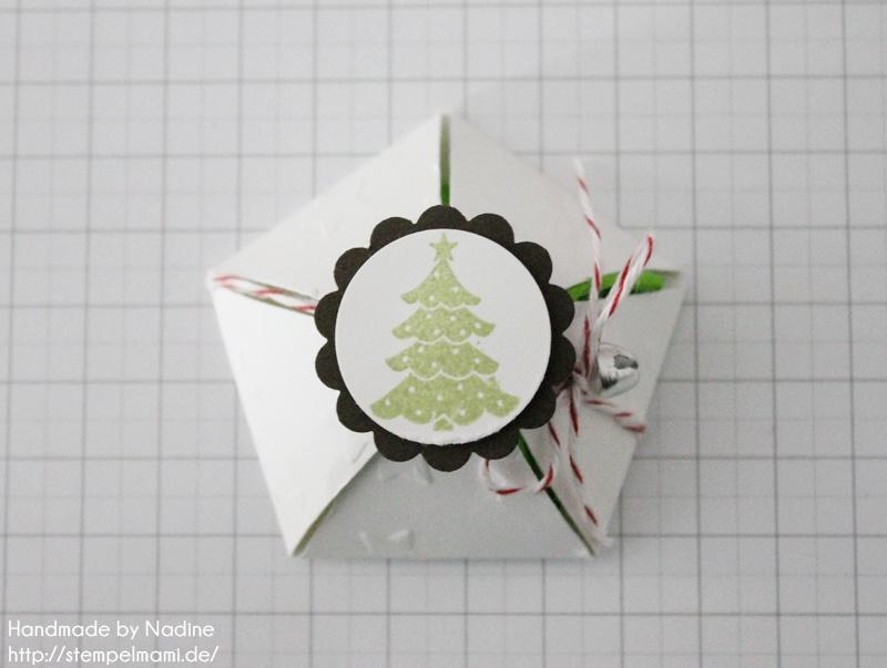 Anleitung Tutorial Stampin Up Sternenbox Star Box Weihnachten 039