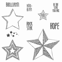 Stampin Up! Angebote der Woche Stempelset Be the Star (Holz) 135731