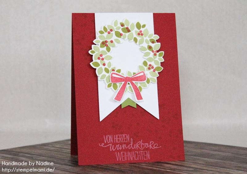 Stampin Up Weihnachtskarte Christmas Card Karte Card 325