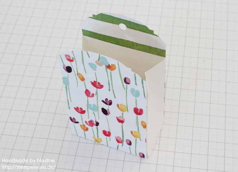 Anleitung Stampin Up Tutorial Gastgeschenk Tuete Goodie Give Away SAB Sale A Bration Stempelset So froh Goodie Bag Gift Idea Designerpapier Zarter Fruehling Stempelmami 043