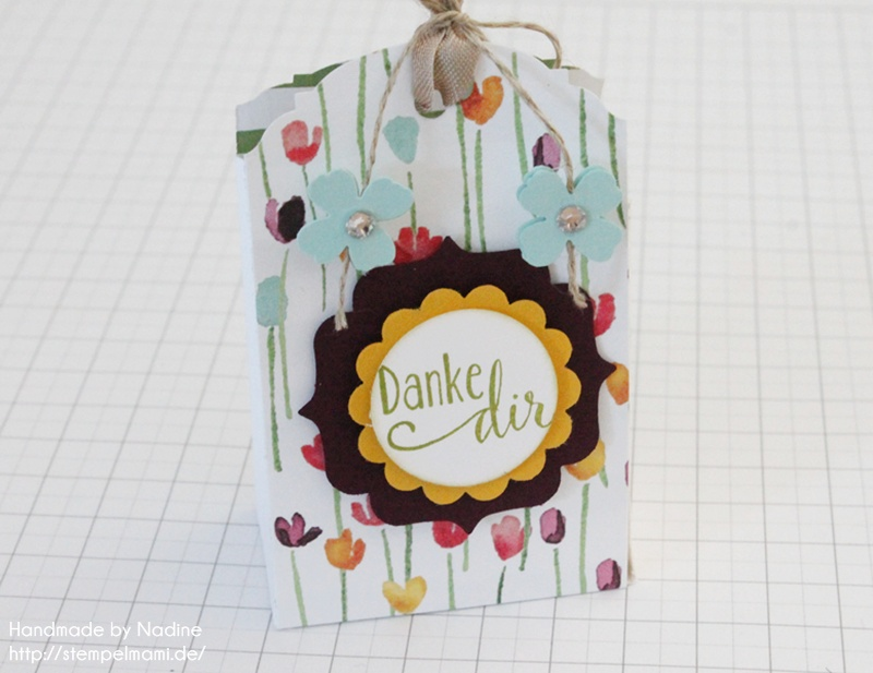 Anleitung Stampin Up Tutorial Gastgeschenk Tuete Goodie Give Away SAB Sale A Bration Stempelset So froh Goodie Bag Gift Idea Designerpapier Zarter Fruehling Stempelmami 077