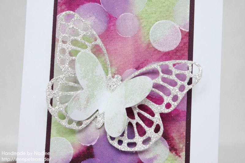 Stampin Up Geburtstagskarte Birthday Card Bokeh Technik Thinlits Formen Schmetterlinge Card Karte 029