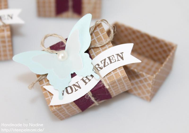 Stampin Up Anleitung Tutorial kleine Küsschen Box als Gastgeschenk
