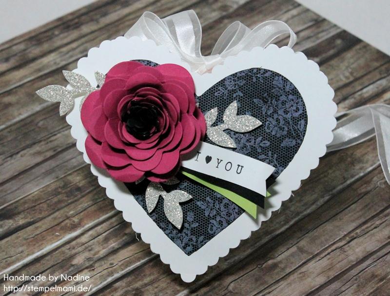 Stampin Up Box Goodie Valentinstag Inspiration Art Blog Hop Liebe Love Hochzeit Drehstempel Bigz Spiralblume Framelits Herz Kollektion Stempel I Love Lace Gastgeschenke Verpackung Schachtel 007