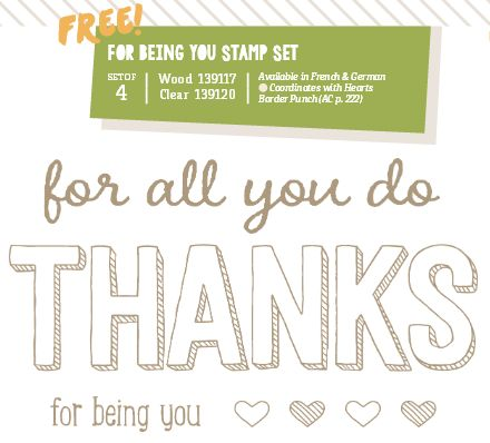 Stampin Up Stempelset For Beeing You Sale A Bration 2015 SAB www.stempelmami.de