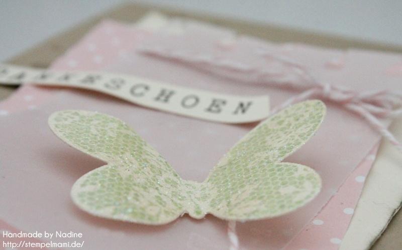 Dankeskarte mit Schmetterlinge