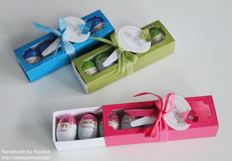 Stampin Up Oster Goodie Ostern Box Gastgeschenke Schachtel Verpackung Matchbox Stempelset From the Garden Stempelmami 021