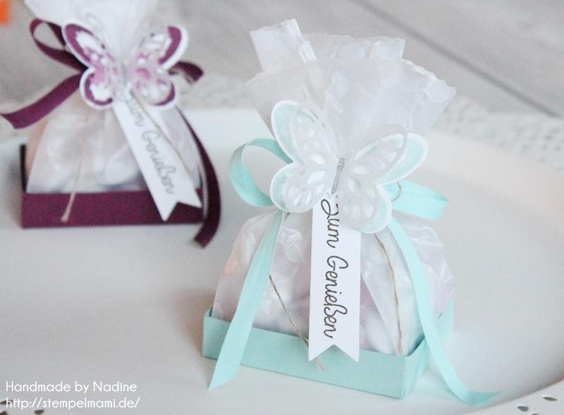 Stampin Up! Anleitung Tutorial Box, Give Away, Goodie, Gastgeschenk zum Thema Gartenparty oder anderen Gelegenheiten