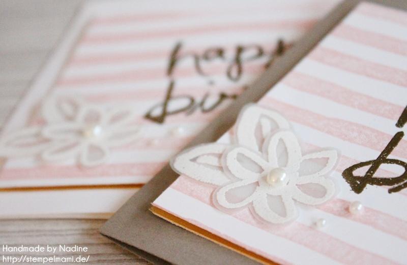 Geburtstagskarte in weiß oder doch lieber Taupe