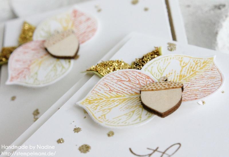 Herbstliche Mini Dankeskarten