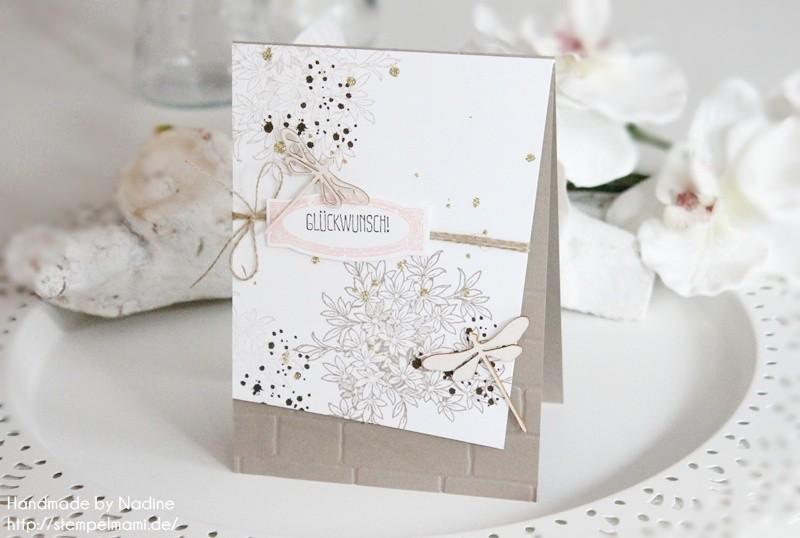 stampin up geburtstagskarte awesomely artisitic birthday card karte stempelmami anleitung tutorial glitter staub 022