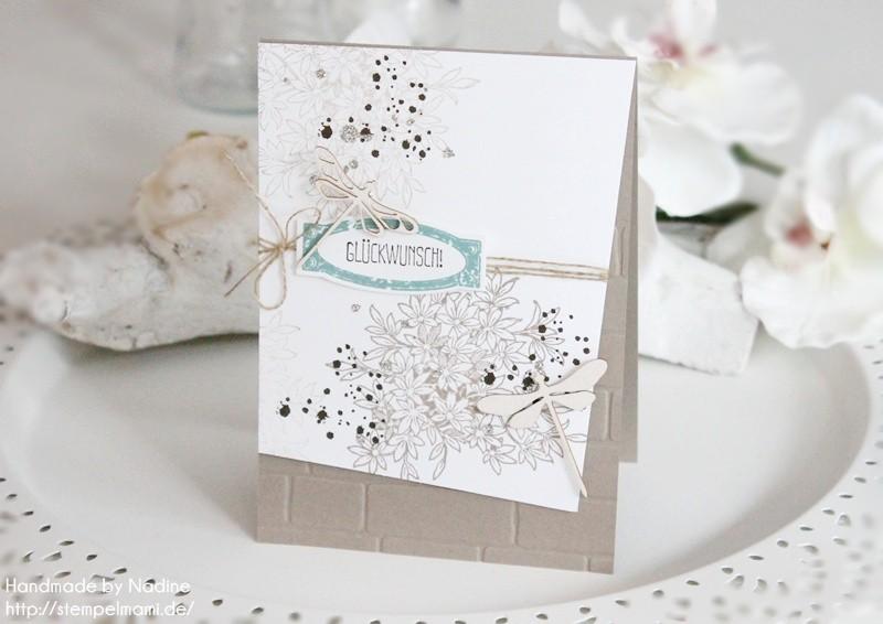 stampin up geburtstagskarte awesomely artisitic birthday card karte stempelmami anleitung tutorial glitter staub 023