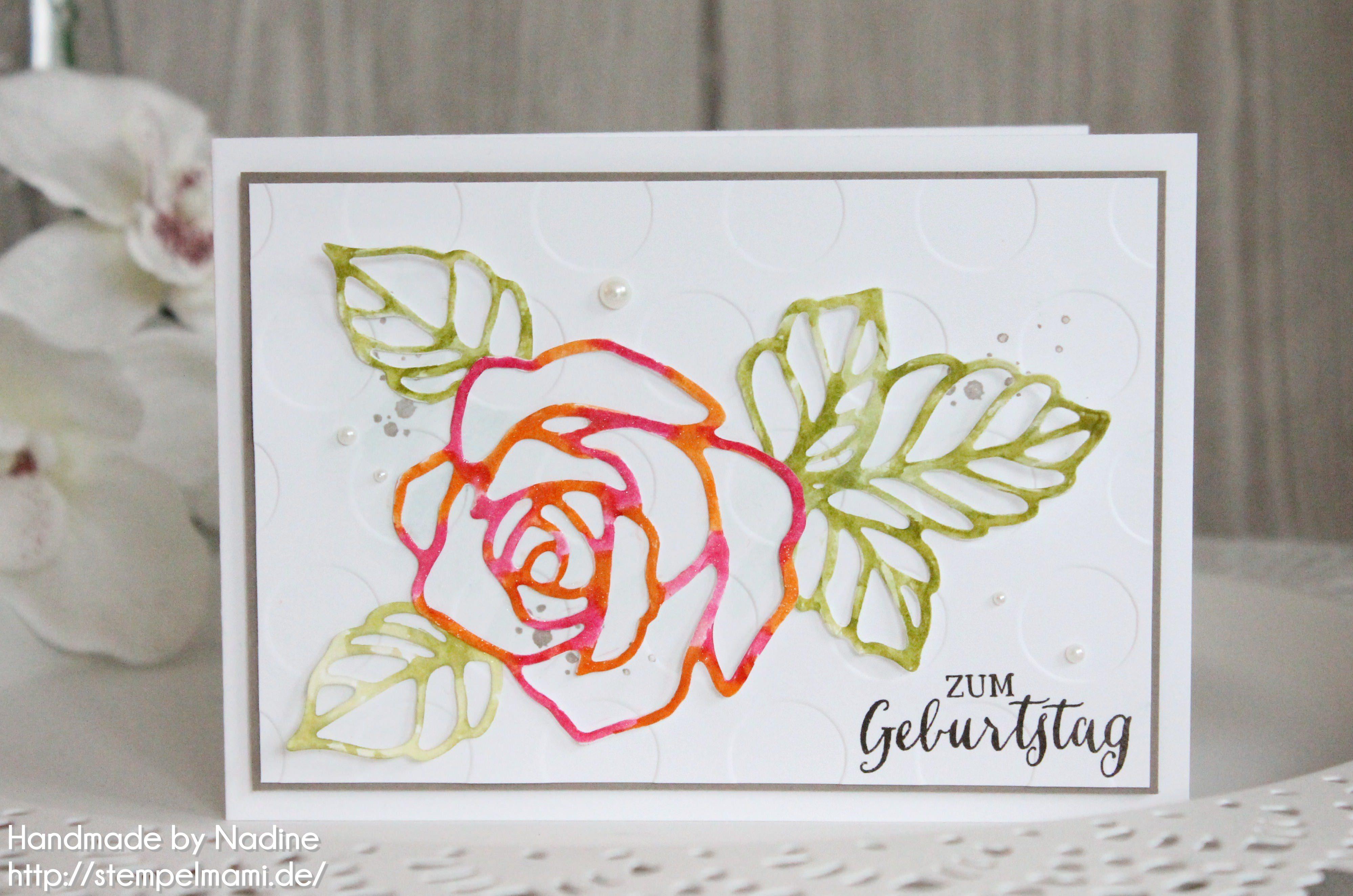 Geburtstagskarte mit rosenzauber basteln mit stempelmami for Pinterest geburtstagskarte