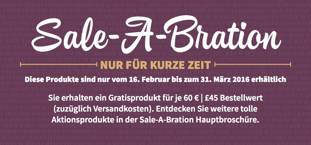 Ab heute 3 neue Sale A Bration Produkte erhältlich
