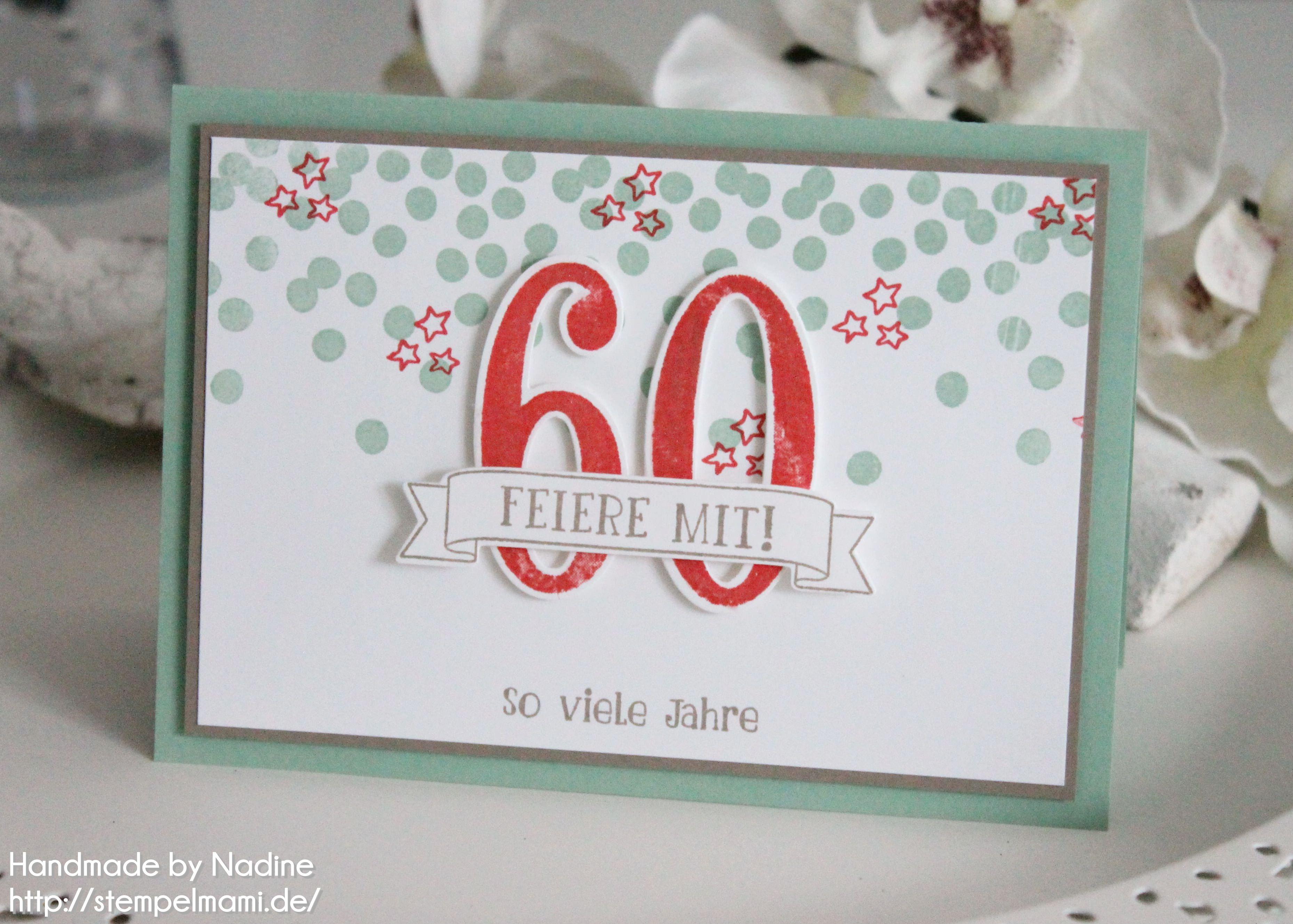 einladungskarte zum 60 geburtstag basteln mit stampin up. Black Bedroom Furniture Sets. Home Design Ideas