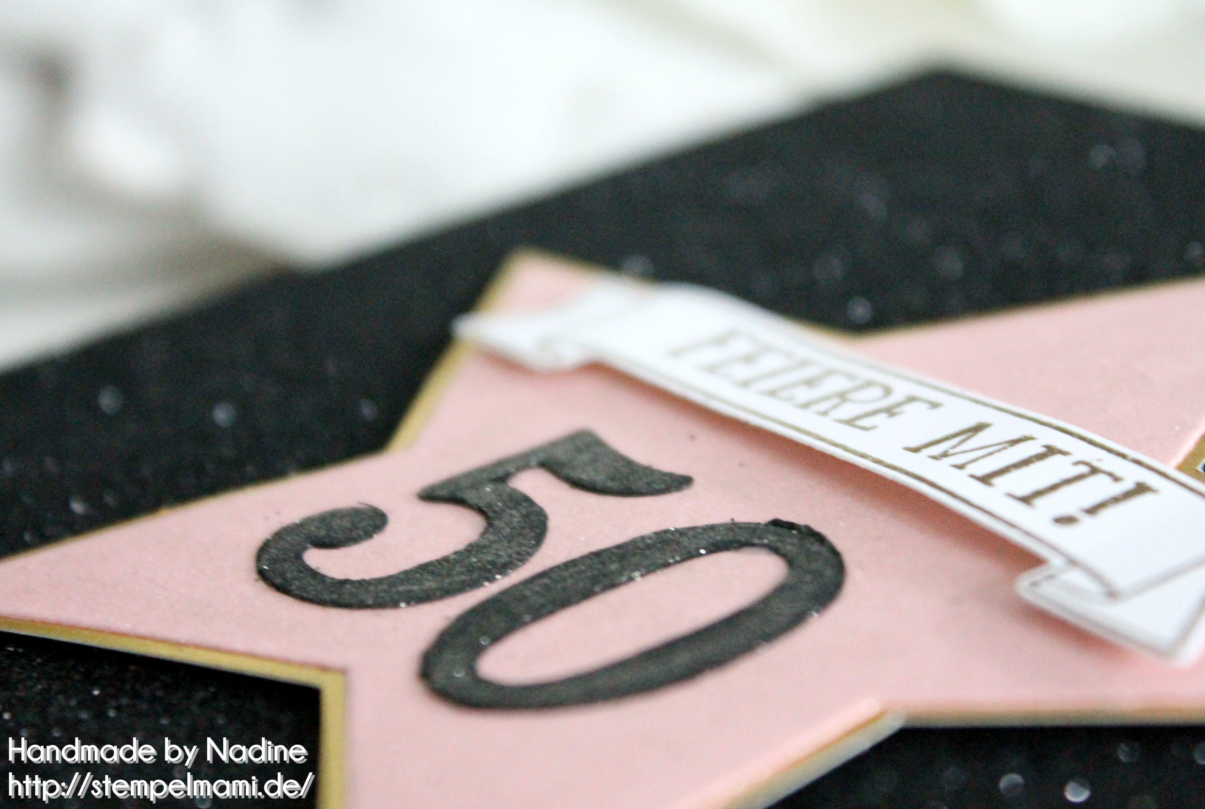 einladungskarte zum 50 geburtstag basteln mit stampin up. Black Bedroom Furniture Sets. Home Design Ideas