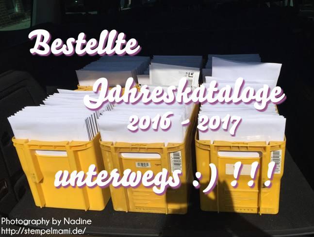 Bestellte Stampin Up! Jahreskataloge 2016 – 2017 unterwegs