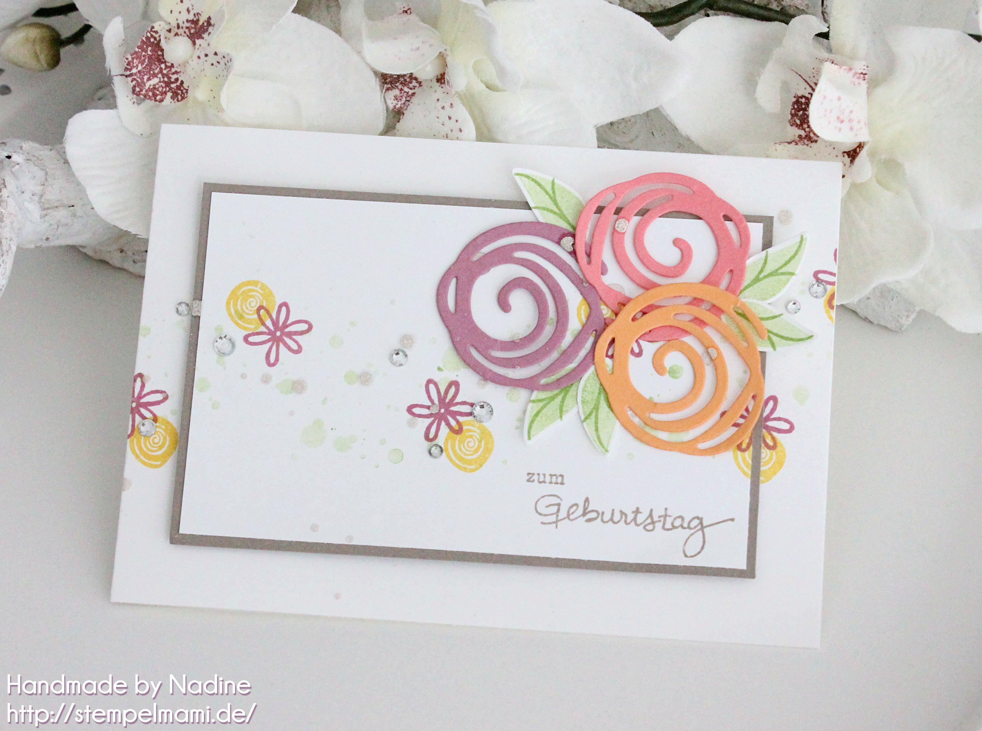 stampin up geburtstagskarte stempelmami birthday card swirly bird geburtstagspuzzle 1