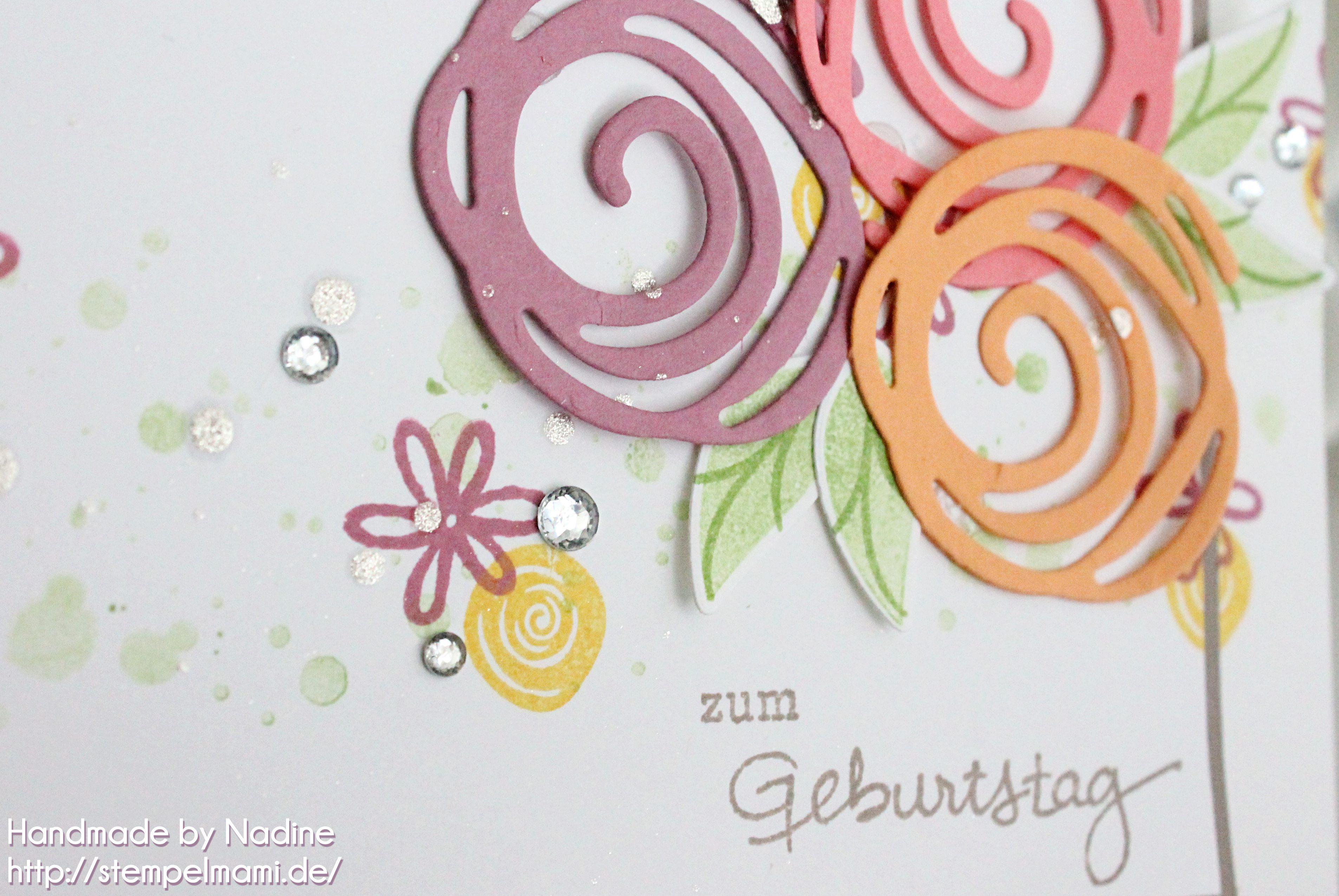 stampin up geburtstagskarte stempelmami birthday card swirly bird geburtstagspuzzle 2
