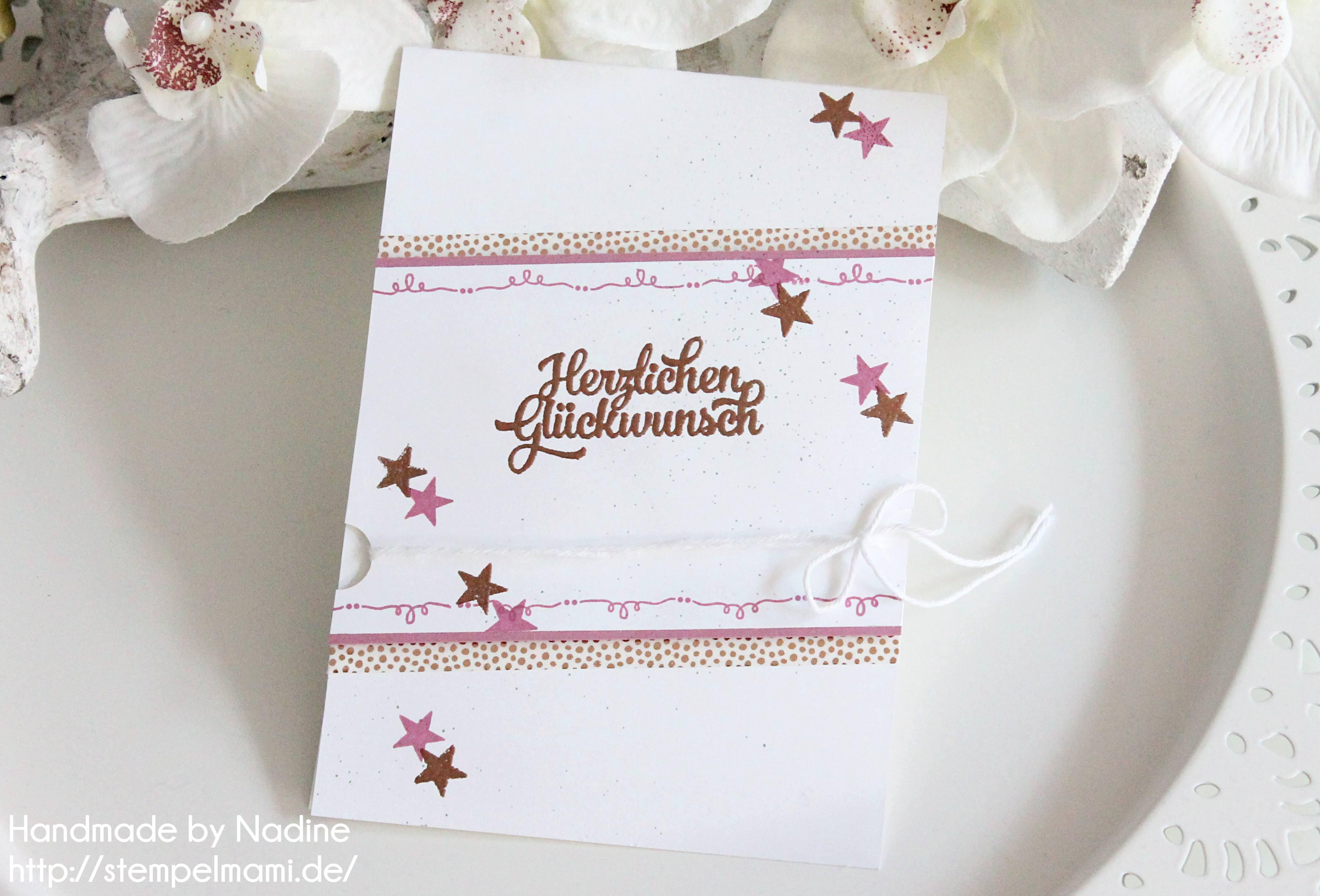 Geburtstagskarte mit kupfer embosst basteln mit stempelmami for Pinterest geburtstagskarte