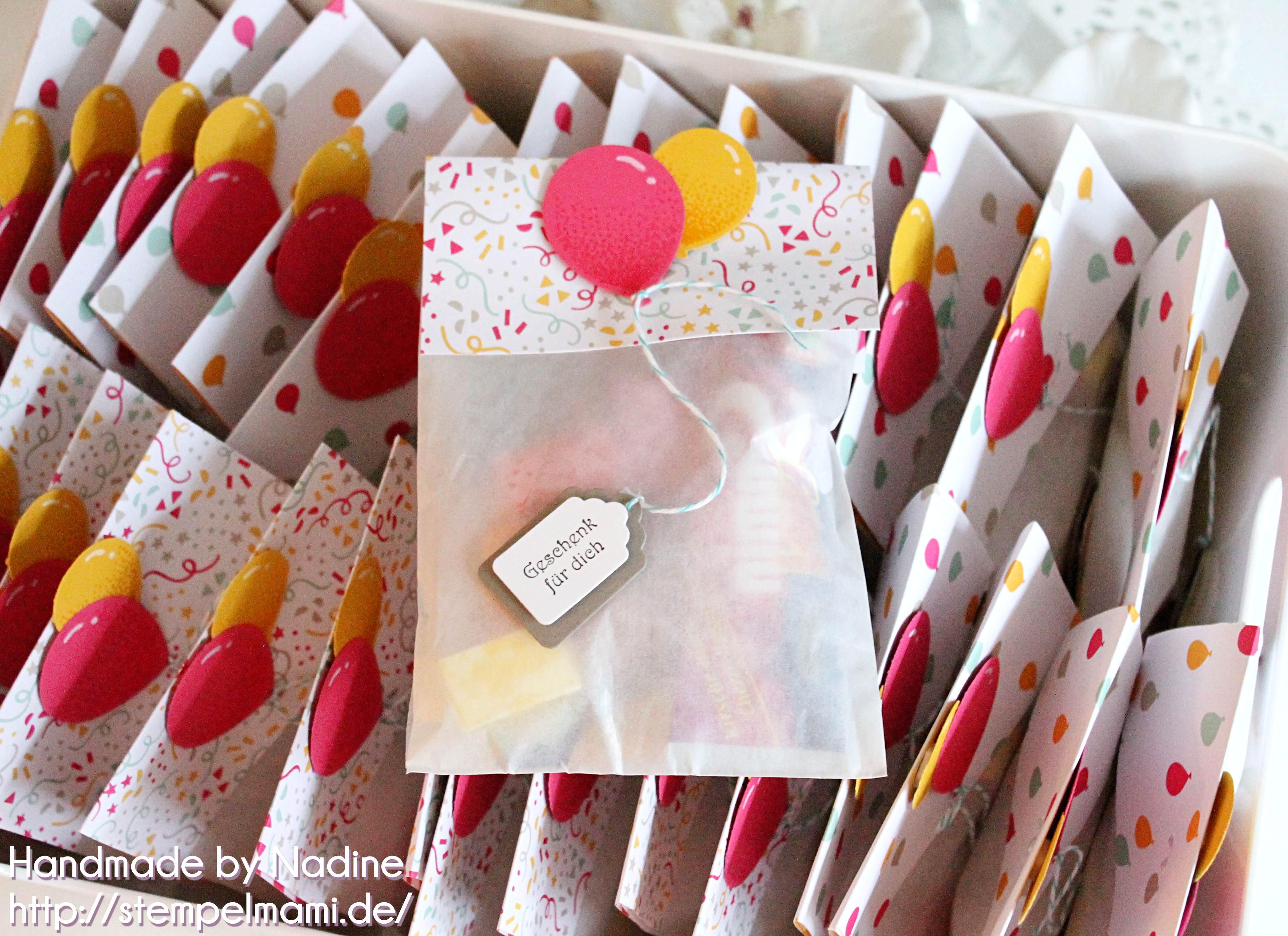 stampin up kindergeburtstag goodie stempelmami gastgeschenk give away verpackung luftballon