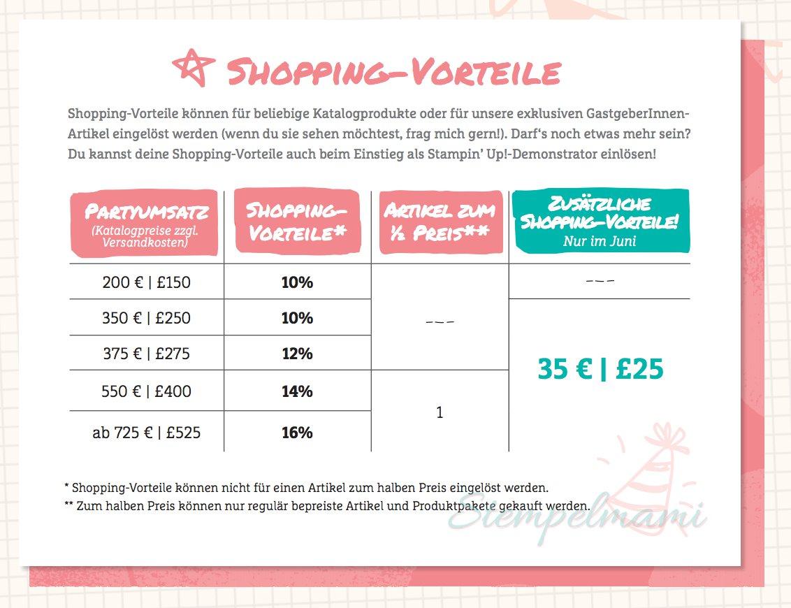 stampin up zusatz shoppingvorteile stempelmami
