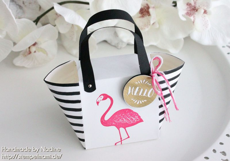 stampin up handbag beachbag stempelmami handtasche strandtasche stempelset pop of paradise box 1