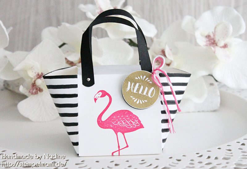 stampin up handbag beachbag stempelmami handtasche strandtasche stempelset pop of paradise box