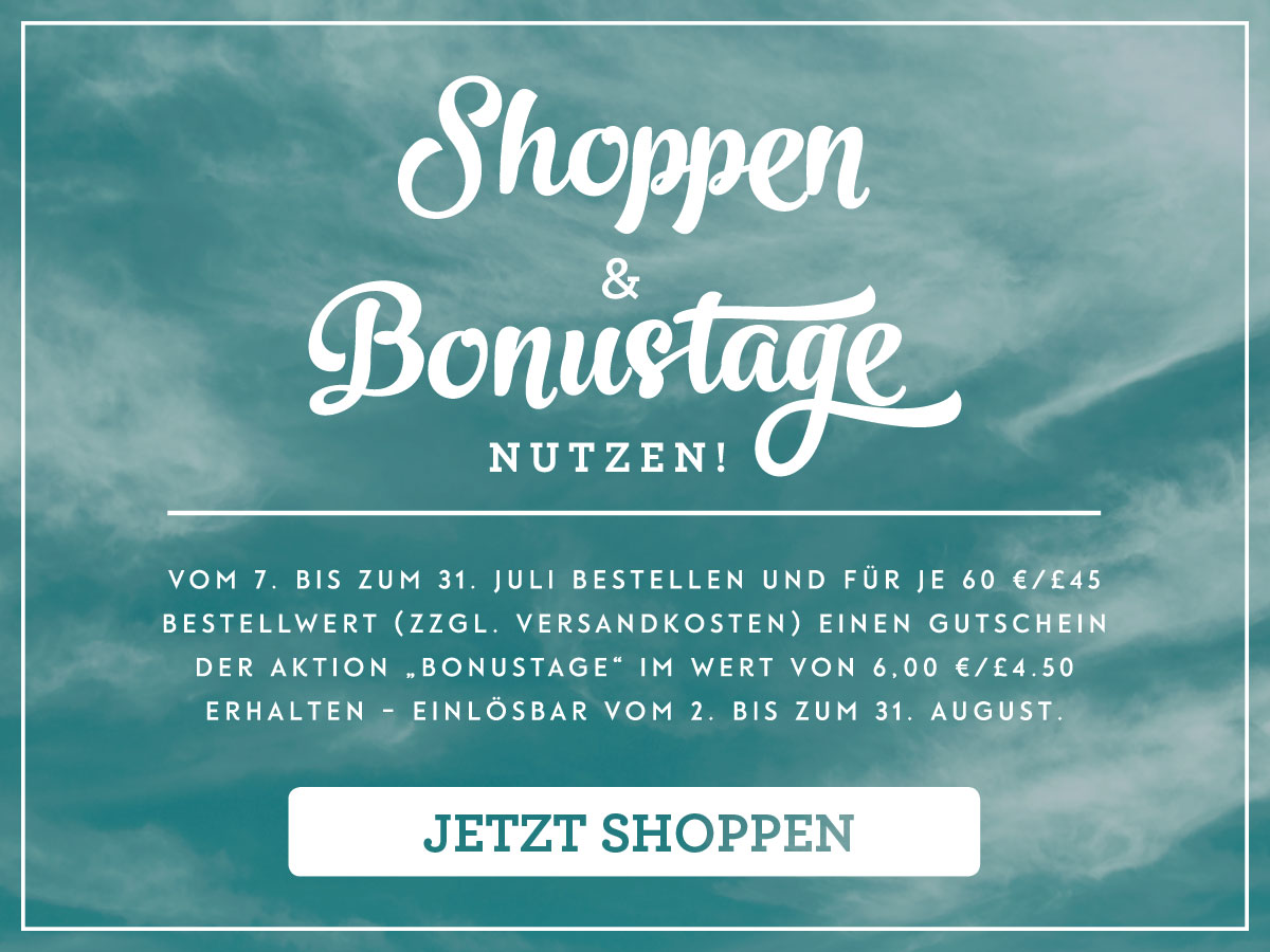 Stampin' Up! Aktion Bonustage im Juli