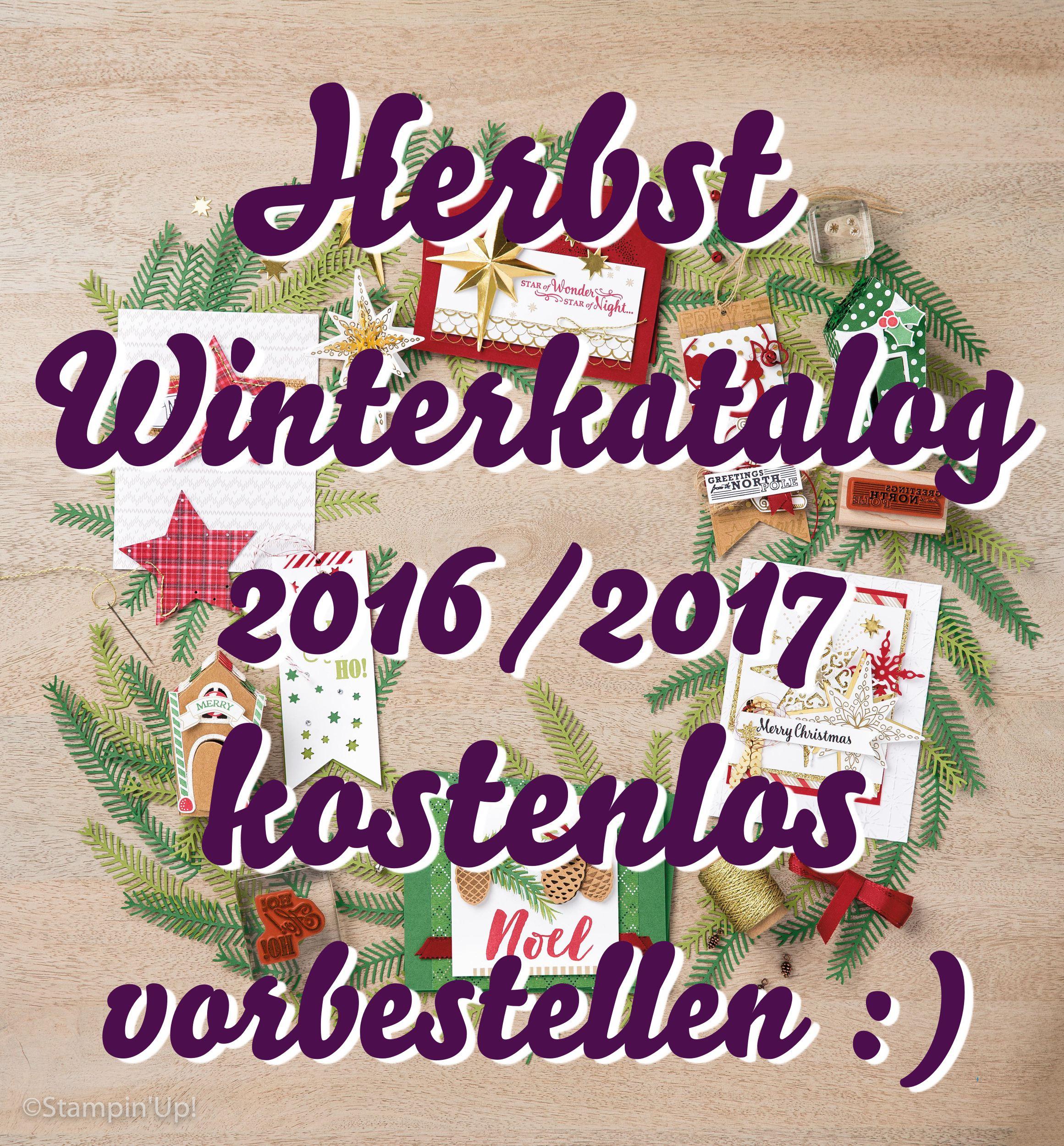 Stampin' Up! Herbst / Winterkatalog 2016 – 2017 bestellen