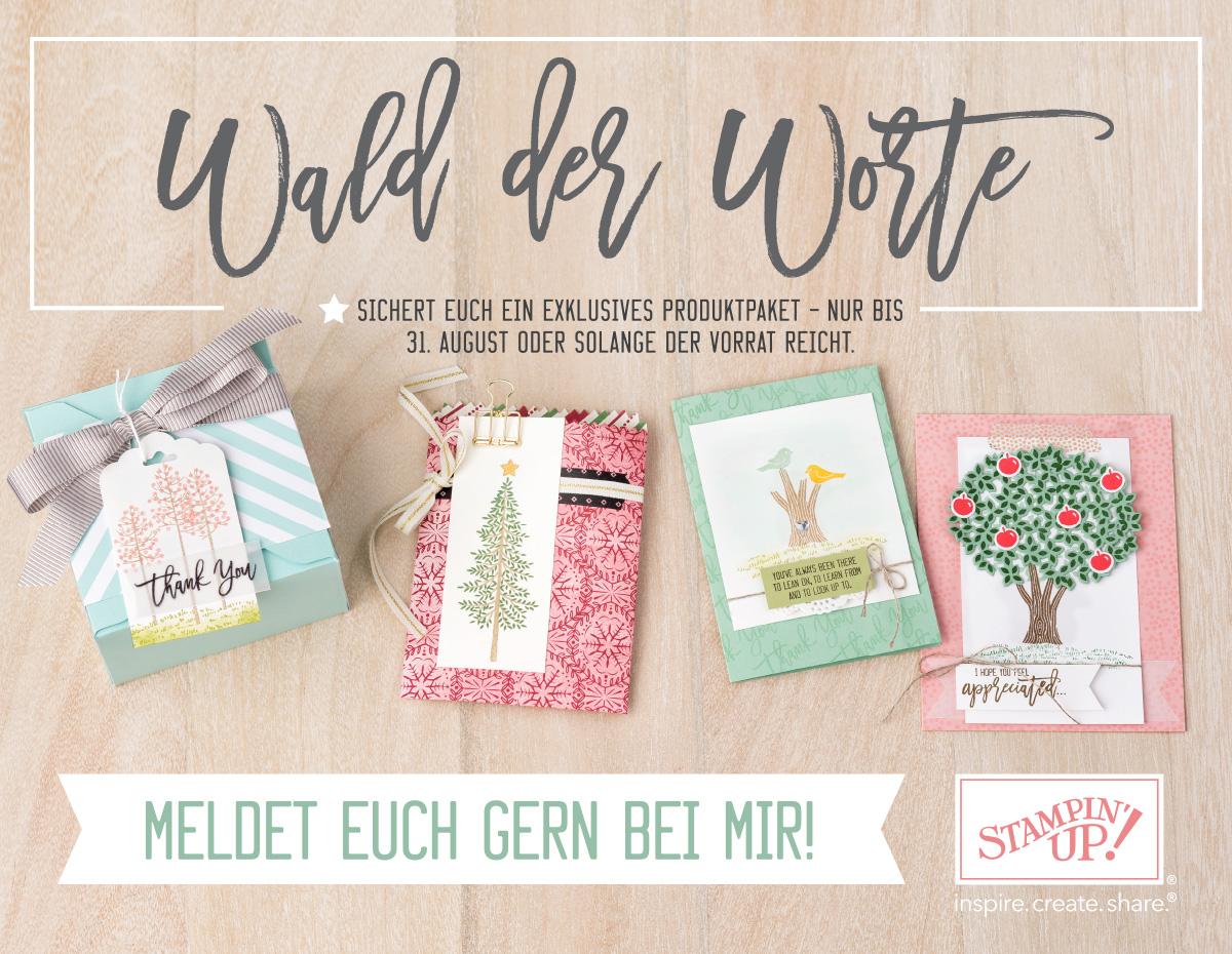 Stampin' Up! Produktpaket Wald der Worte ab August erhältlich