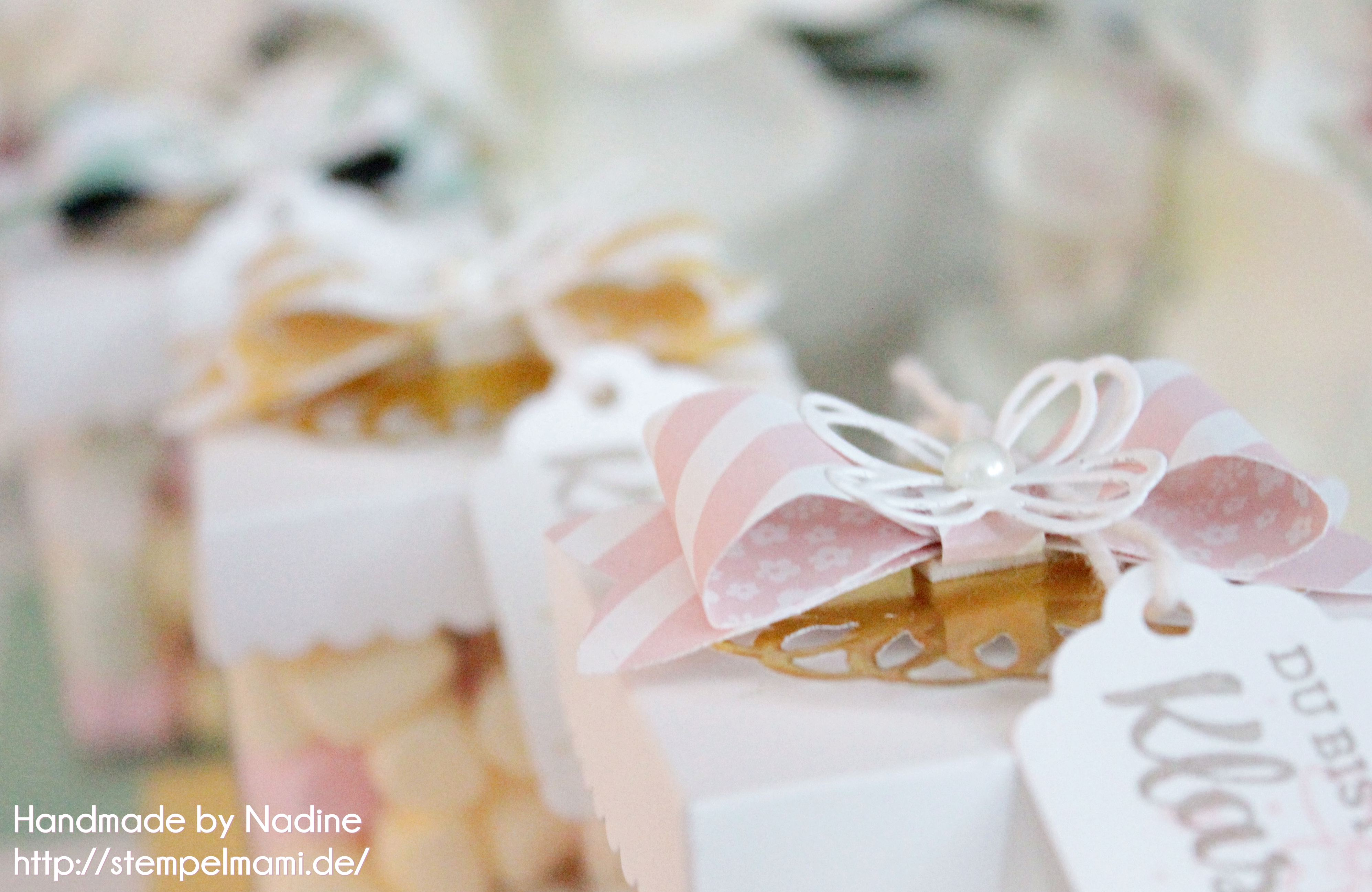 Chamallows Minis von Haribo mit den transparenten Geschenk Schachteln schnell verpackt